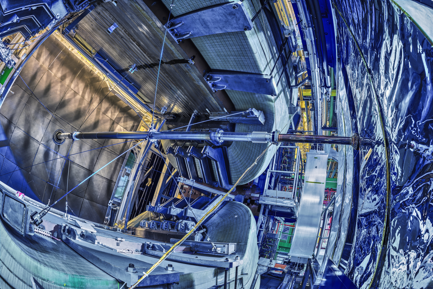 The LHCb experiment is one of the four large experiments at the Large Hadron Collider at CERN, situated underground on the Franco-Swiss border near Geneva. Credit: CERN