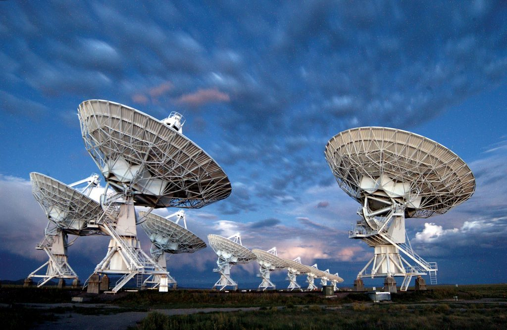 The Karl G. Jansky Very Large Array (VLA) radio astronomy observatory located in central New Mexico. Credit: NRAO/AUI/NSF