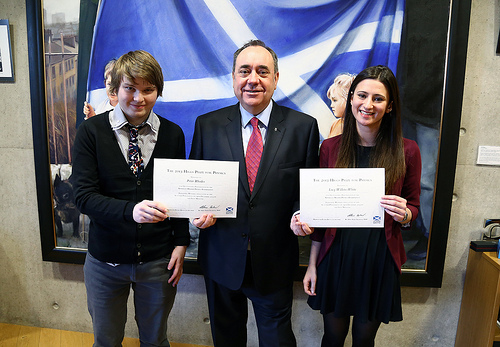 Lucy Willets-White and Peter Rhodes met Alex Salmond in the Scottish Parliament after attending First Minister's Questions.