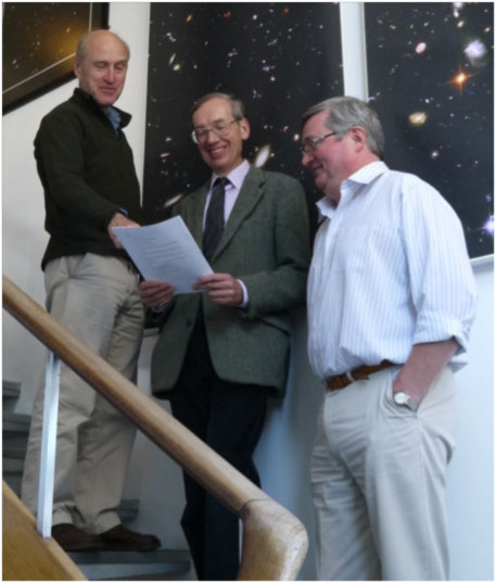 Professor Andy Lawrence, Dr Alan Grainger and Dr Keith Noddle.