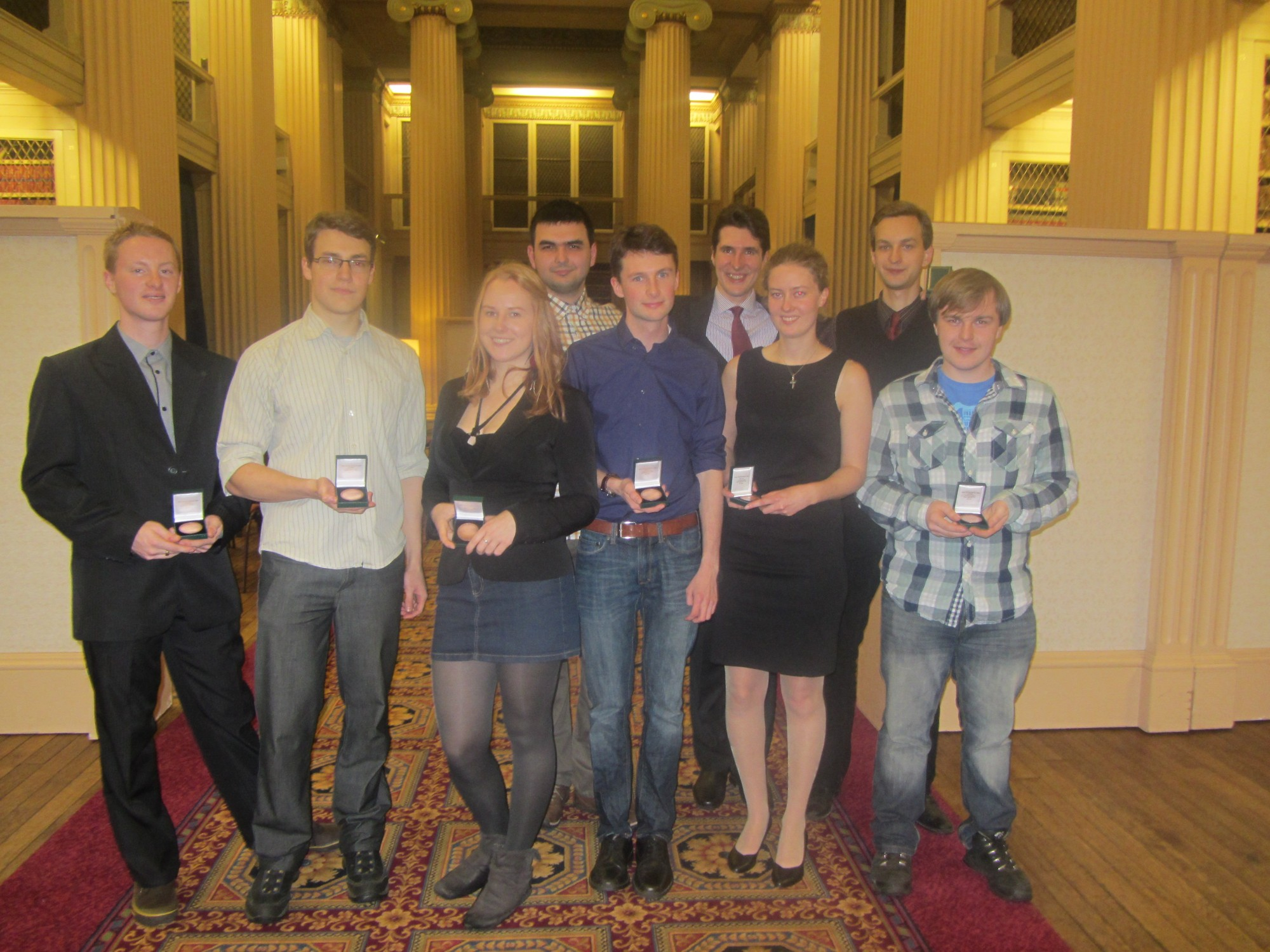 Award recipients from the School of Physics & Astronomy.