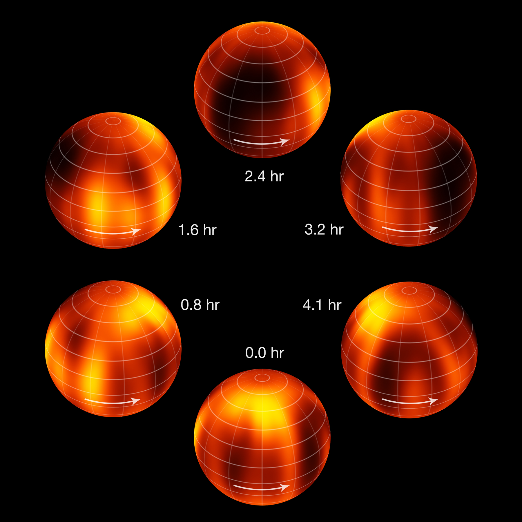 Surface map of Luhman 16B recreated from VLT observations (annotated). Credit: ESO/I. Crossfield.