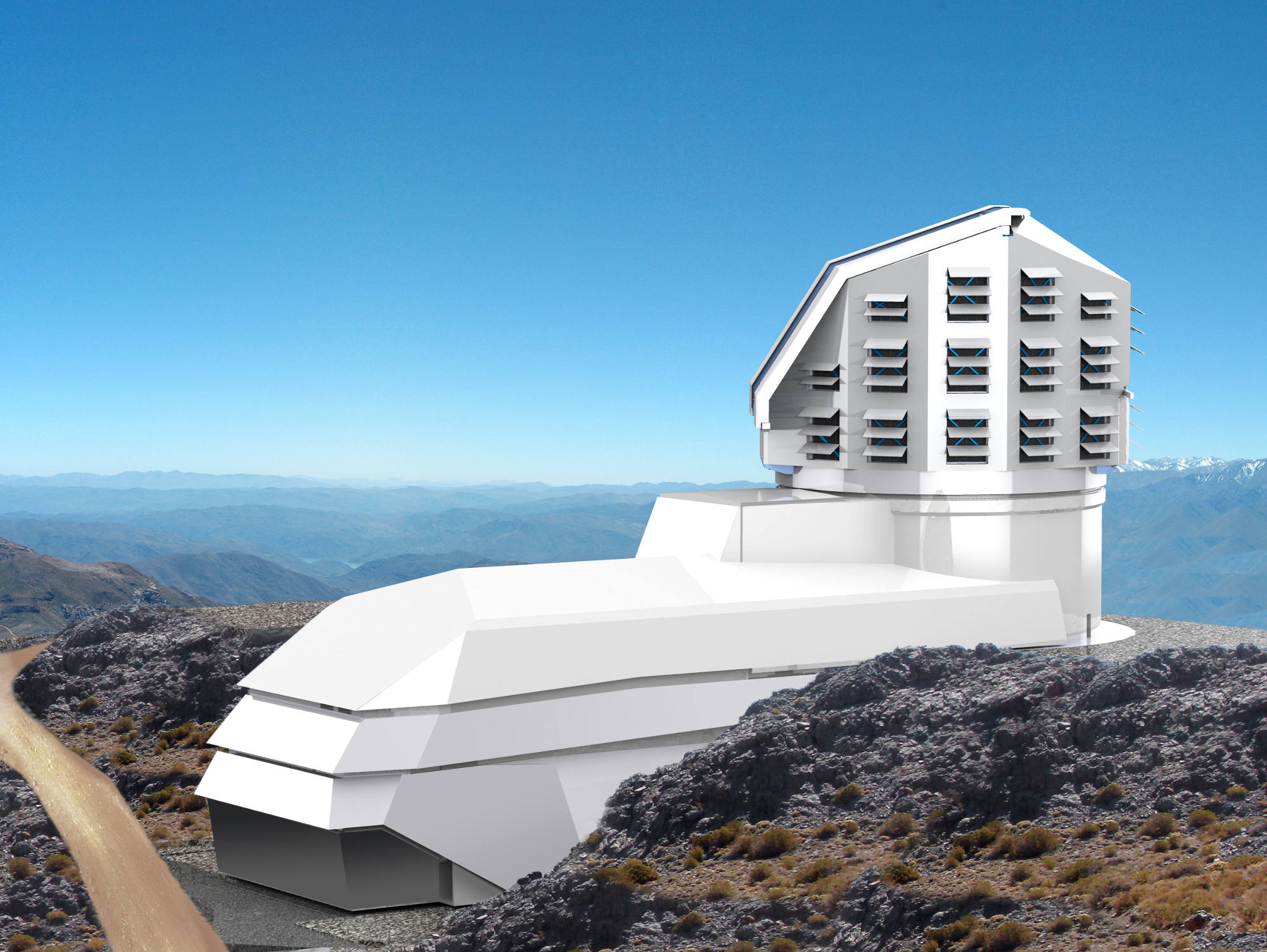 Schematic of the telescope. Credit: LSST Corporation