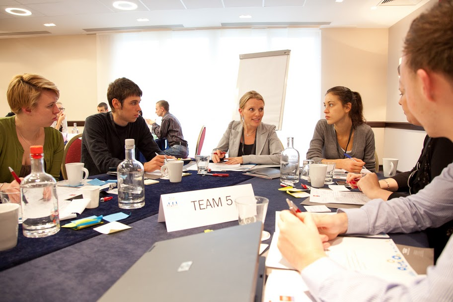 Team 5 brainstorming for business ideas