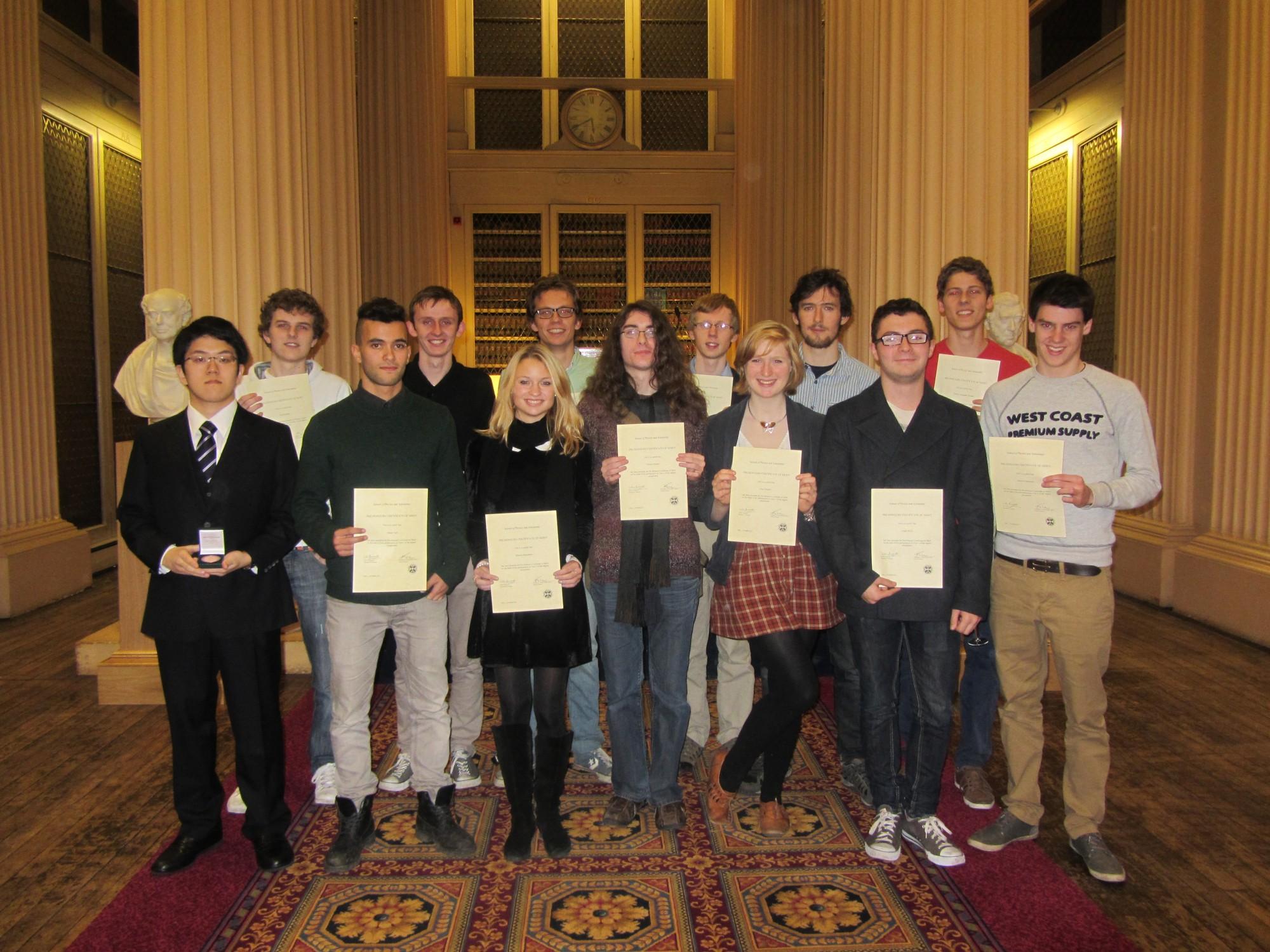 Year 1 Certificate of Merit