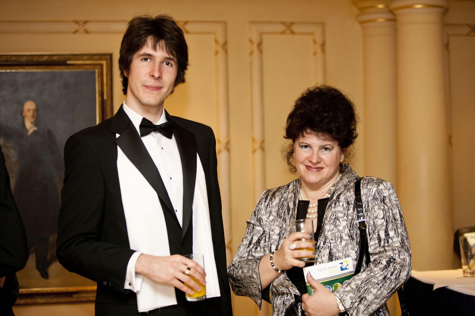 Flaviu Cipcigan and his mother, Dr Liana Cipcigan, at the SET Student of the Year Awards.