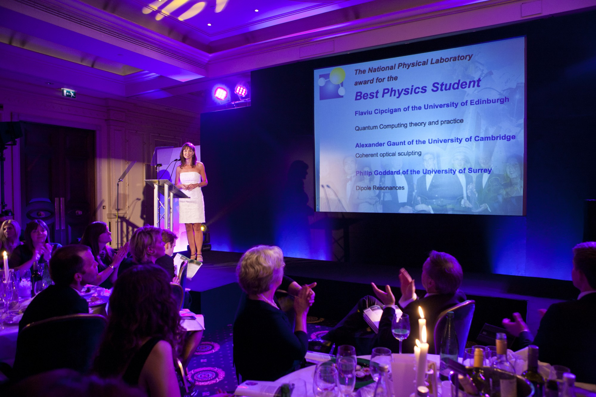 Flaviu's nomination is announced at the SET Student of the Year Awards.