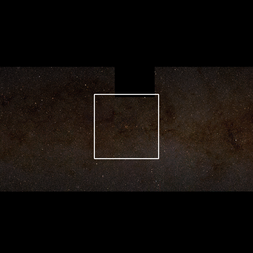 The second of a set of three images which zoom in on the giant star-forming region known as G305
