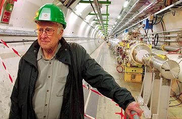 Prof Higgs at CERN. Image: Alan Walker