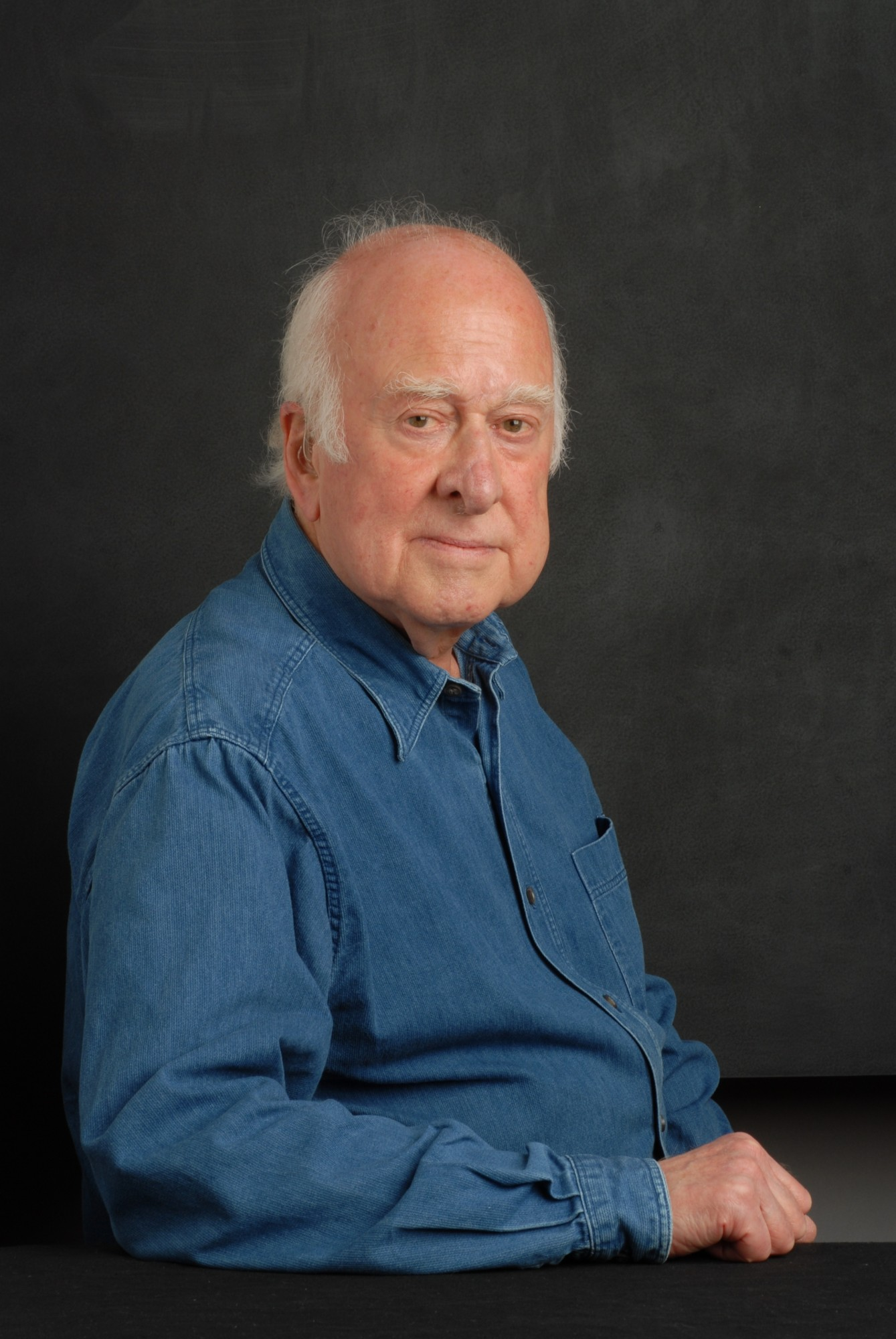 Photographic portrait of Peter Higgs taken by Peter Tuffy. 17 June 2009.