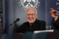 Professor Peter Higgs. Image copyright Graham Clark.